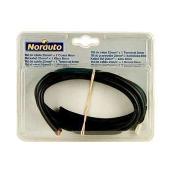 Cable 1m + Terminales 8mm NORAUTO