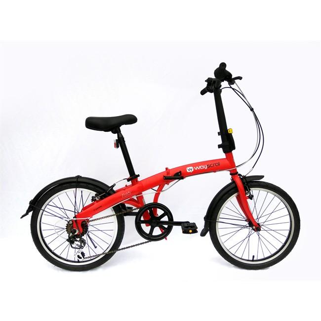 Bicicleta Plegable Wayscral Foldy 20`` Rojo