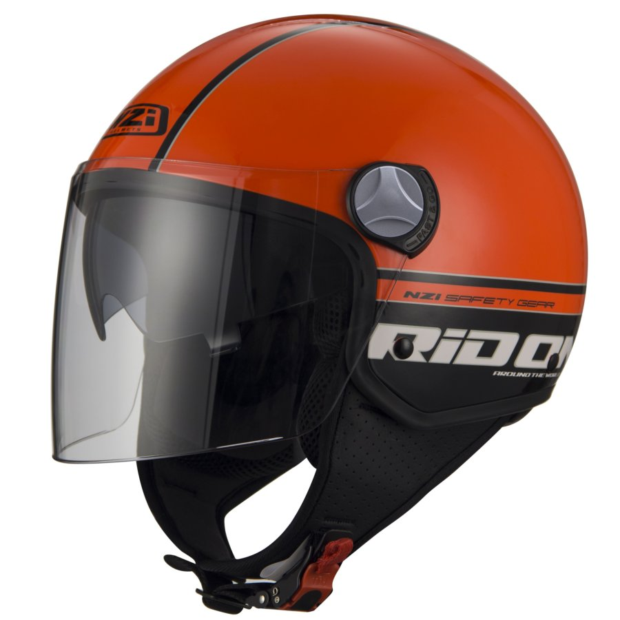 Casco Moto Jet NZI Capital 2 Duo negro/naranja M
