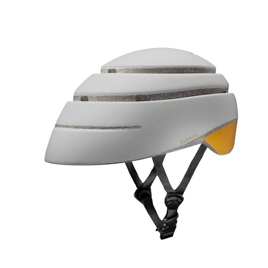 Casco plegable bicicleta/patinete adulto CLOSCA color Pearl Mustard talla M