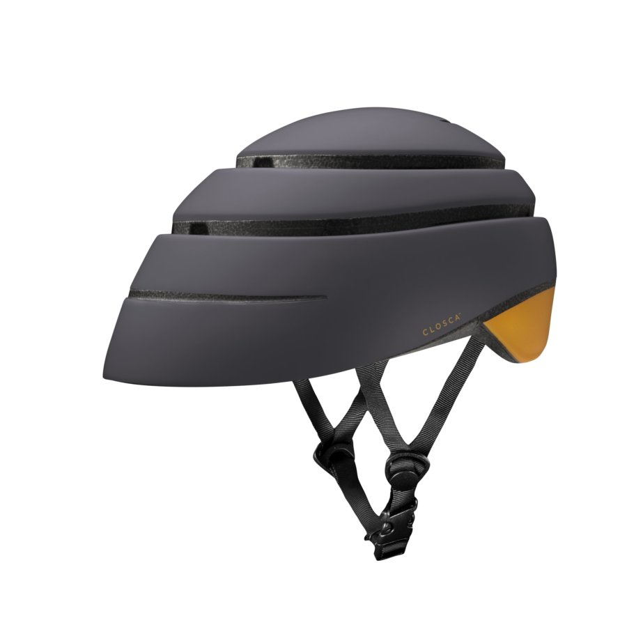 Casco plegable bicicleta/patinete adulto CLOSCA color Graphite Mustard talla M