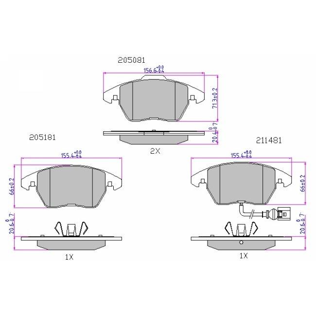 VW Passat b6 2005-20210 izquierdo paso de rueda MDF vacío carcasas para 25cm subwoofer