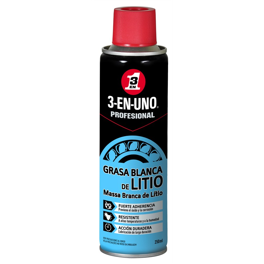 Grasa blanca de Litio 3-EN-UNO 250 ml