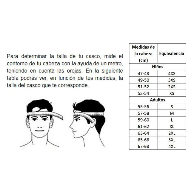 Guía de tallas y ajuste | Cascos LEM